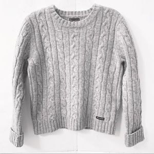 Abercrombie & Fitch Cropped 100% Wool Sweater
